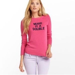 Lilly Pulitzer Make It A Double Hot Pink Sweater